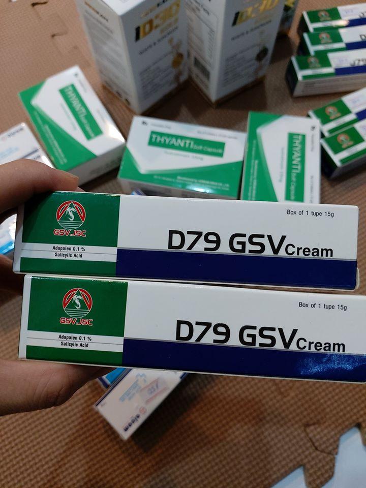 Kem Bôi Da Trị Mụn D79 GSV Cream