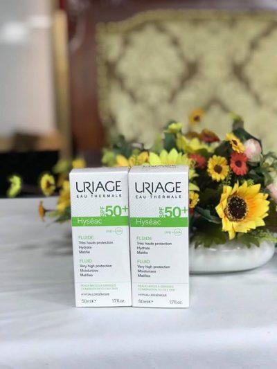 Kem Chống Nắng Dưỡng Ẩm Cho Da Dầu Và Mụn Uriage Hyseac Fluide SPF50 50ml