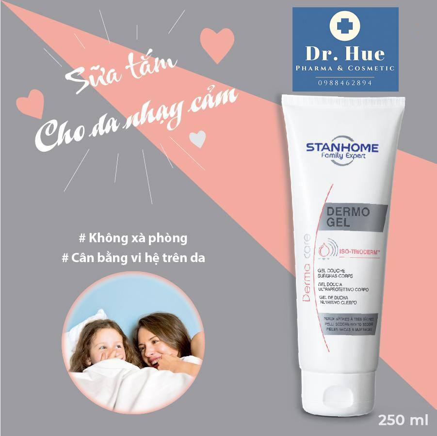 Sữa tắm không xà phòng trị viêm nang lông Stanhome dermo gel 250ml