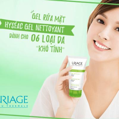 Sữa Rửa Mặt Cho Da Dầu Da Mụn Và Da Hồn Hợp Uriage Hyséac Gel Nettoyant 150ml