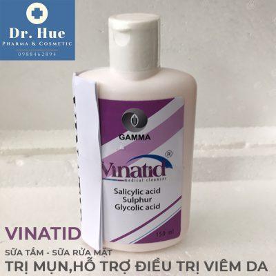 sữa rửa mặt, sữa tắm trị mụn Vinatid 150ml3b