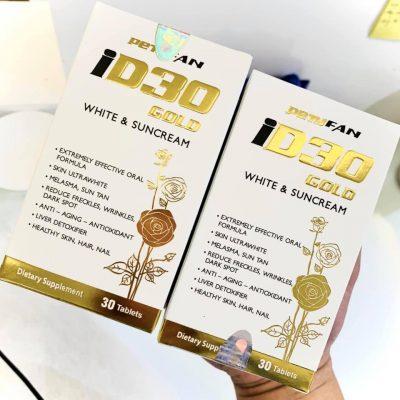 Viên uống chống nắng ID30 Gold white & suncream