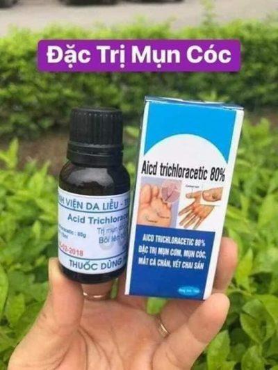 AICD TRICHLORACETIC 80 % - Dung Dịch Trị Mụn Cơm Mụn Cóc