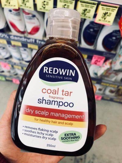 Dầu Gội Trị Gàu Và Giảm Nhờn Da Đầu Redwin Coal Tar Shampoo 250Ml