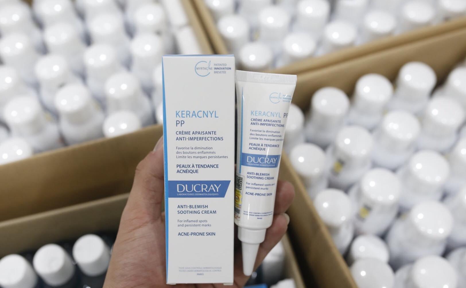 kem ngừa mụn, giảm thâm, giảm viêm Ducray Keracnyl PP Anti-blemish Soothing Cream