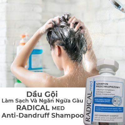 Dầu Gội Làm Sạch Và Ngăn Ngừa Gàu Radical Med Anti Dandruff Shampoo-7