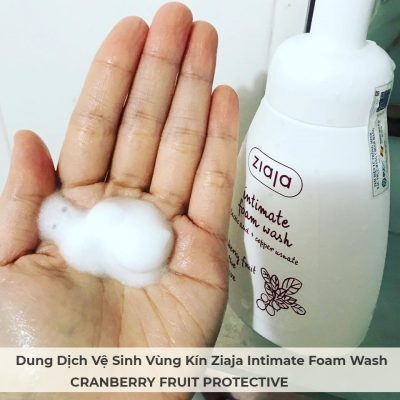 Dung Dịch Vệ Sinh Vùng Kín Ziaja Intimate Foam Wash CRANBERRY FRUIT PROTECTIVE 250ml-9