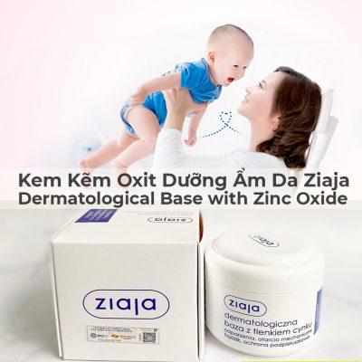 Kem Kẽm Oxit Dưỡng Ẩm Da Ziaja Dermatological Base with Zinc Oxide 80g-1