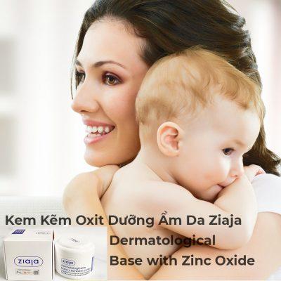 Kem Kẽm Oxit Dưỡng Ẩm Da Ziaja Dermatological Base with Zinc Oxide 80g-2