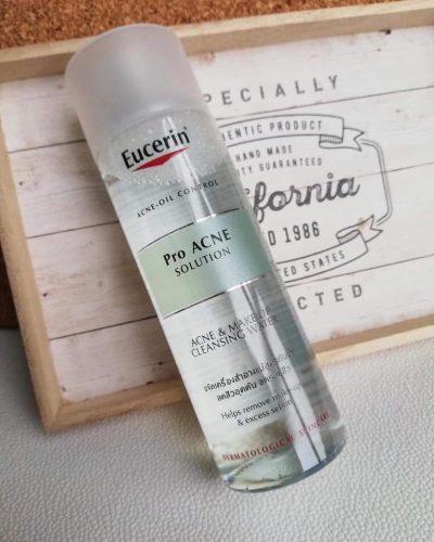 Nước Tẩy Trang Cho Da Dầu Mụn Eucerin Pro Acne Solution Make Up Cleansing Water 200ml