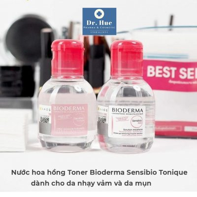 Nước hoa hồng Toner Bioderma Sensibio Tonique dành cho da nhạy cảm và da mụn 100ml-10
