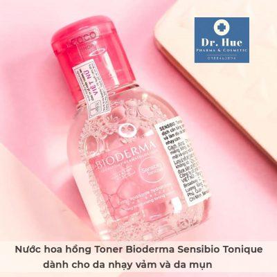 Nước hoa hồng Toner Bioderma Sensibio Tonique dành cho da nhạy cảm và da mụn 100ml-2