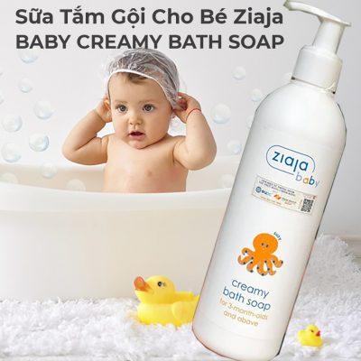 Sữa Tắm Gội Cho Bé 2in1 Ziaja BABY CREAMY BATH SOAP 300ml-3