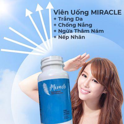 Viên Uống MIRACLE Trắng Da, Chống Nắng, Ngừa Thâm Nám, Nếp Nhăn-8
