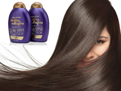 Bộ dầu gội - xả kích thích mọc tóc Biotin & Collagen OGX