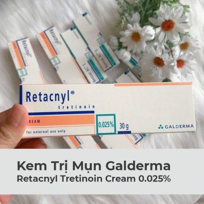 Kem Trị Mụn Retacnyl Tretinoin Cream 0.025% Galderma 30g-1