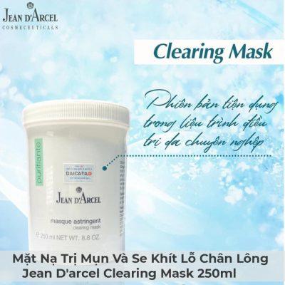 Mặt Nạ Trị Mụn Và Se Khít Lỗ Chân Lông Jean D'arcel Clearing Mask 250ml-4