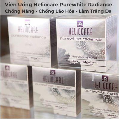 Viên Uống Chống Nắng, Chống Lão Hóa, Làm Trắng Da Heliocare Purewhite Radiance-5