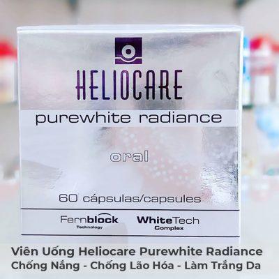 Viên Uống Chống Nắng, Chống Lão Hóa, Làm Trắng Da Heliocare Purewhite Radiance-9