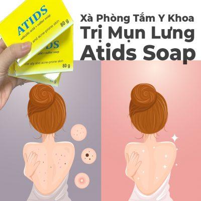 Xà Phòng Tắm Y Khoa Trị Mụn Lưng Atids Soap-1