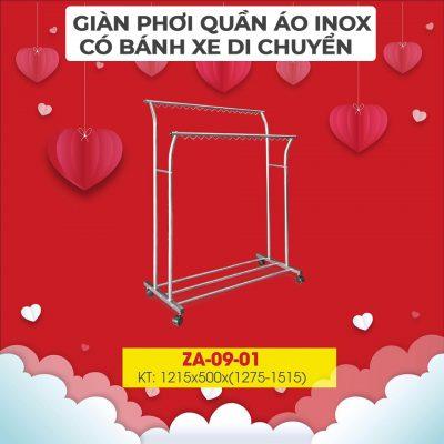 Giá phơi quần áo Xuân Hòa ZA-09-01-4a