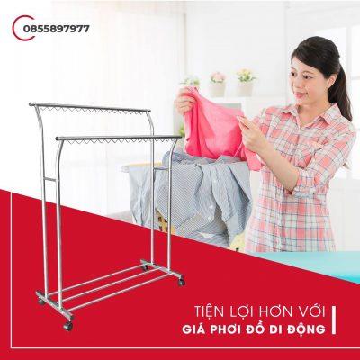 Giá phơi quần áo Xuân Hòa ZA-09-01-5a