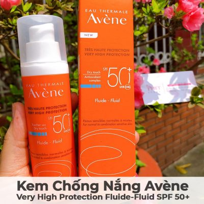 Kem Chống Nắng Avène Very High Protection Fluide-Fluid SPF 50-10
