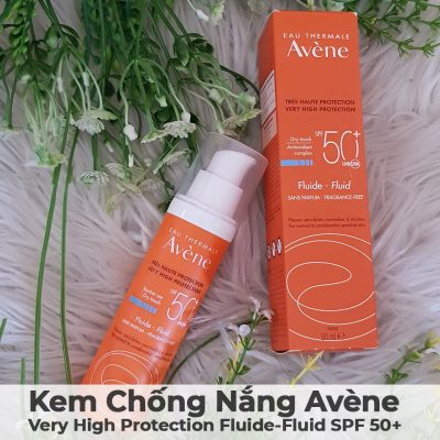 Kem Chống Nắng Avène Very High Protection Fluide-Fluid SPF 50-15