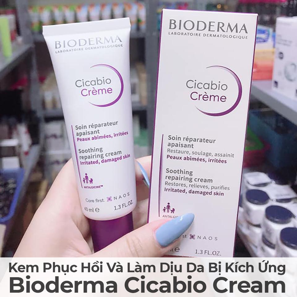Kem Phục Hồi Và Làm Dịu Da Bị Kích Ứng Bioderma Cicabio Cream-5