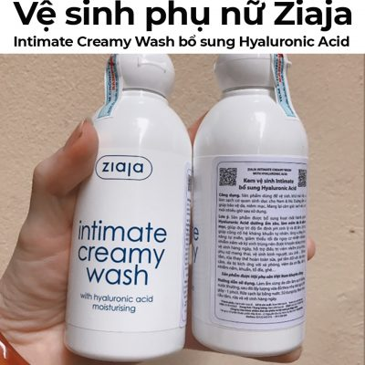 Kem vệ sinh phụ nữ Ziaja Intimate Creamy Wash bổ sung Hyaluronic Acid-1
