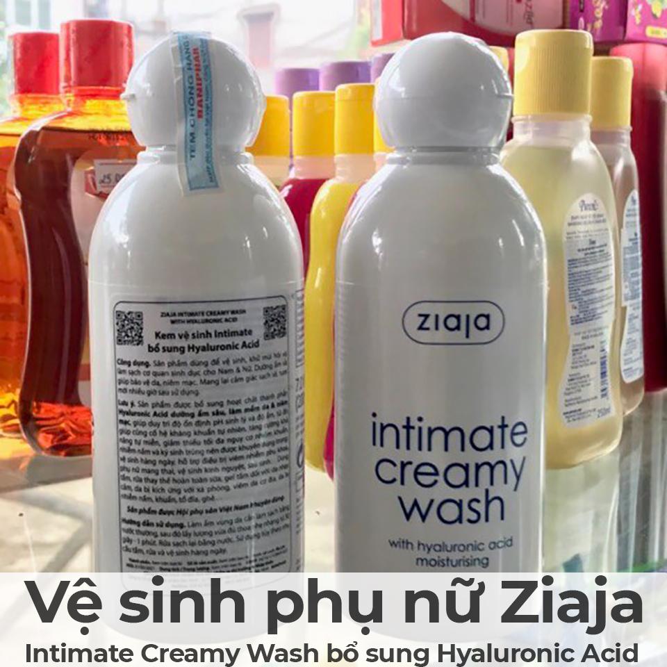 Kem vệ sinh phụ nữ Ziaja Intimate Creamy Wash bổ sung Hyaluronic Acid-11