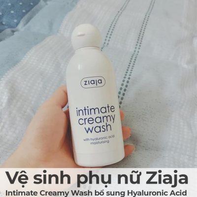 Kem vệ sinh phụ nữ Ziaja Intimate Creamy Wash bổ sung Hyaluronic Acid-8