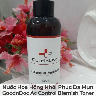 Nước Hoa Hồng Khôi Phục Da Mụn GoodnDoc Ac Control Blemish Toner-14