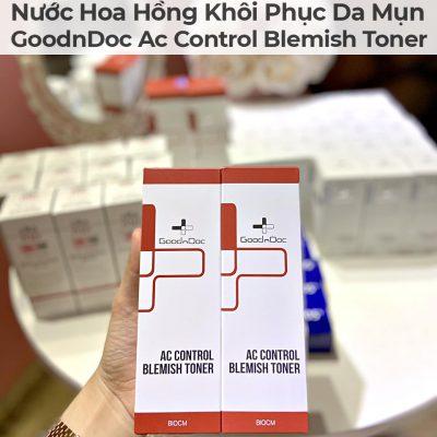 Nước Hoa Hồng Khôi Phục Da Mụn GoodnDoc Ac Control Blemish Toner-4