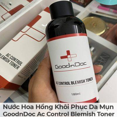 Nước Hoa Hồng Khôi Phục Da Mụn GoodnDoc Ac Control Blemish Toner-5