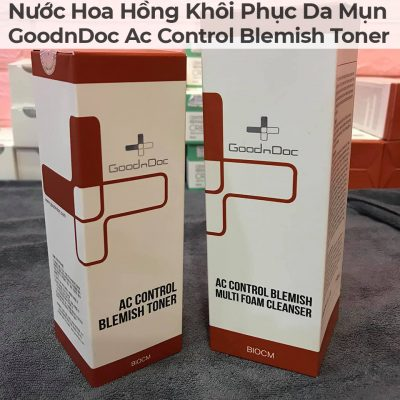 Nước Hoa Hồng Khôi Phục Da Mụn GoodnDoc Ac Control Blemish Toner-6