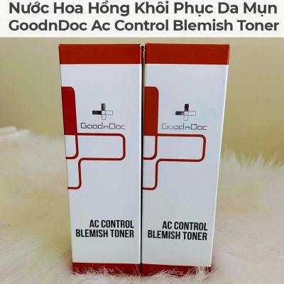 Nước Hoa Hồng Khôi Phục Da Mụn GoodnDoc Ac Control Blemish Toner-7