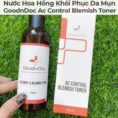 Nước Hoa Hồng Khôi Phục Da Mụn GoodnDoc Ac Control Blemish Toner-9