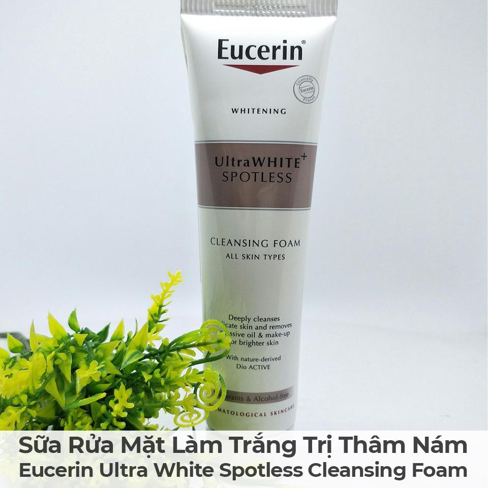 Sữa Rửa Mặt Làm Trắng Trị Thâm Nám Eucerin Ultra White Spotless Cleansing Foam-10