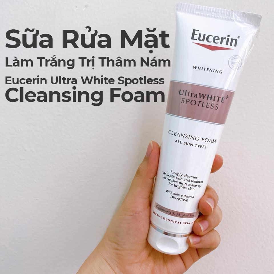 Sữa Rửa Mặt Làm Trắng Trị Thâm Nám Eucerin Ultra White Spotless Cleansing Foam-11