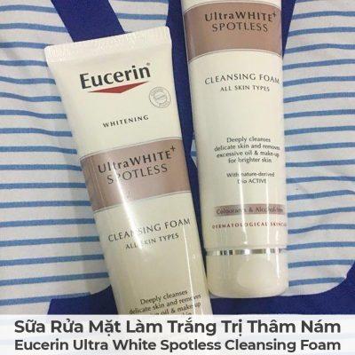 Sữa Rửa Mặt Làm Trắng Trị Thâm Nám Eucerin Ultra White Spotless Cleansing Foam-13