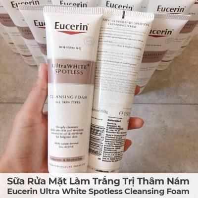 Sữa Rửa Mặt Làm Trắng Trị Thâm Nám Eucerin Ultra White Spotless Cleansing Foam-2