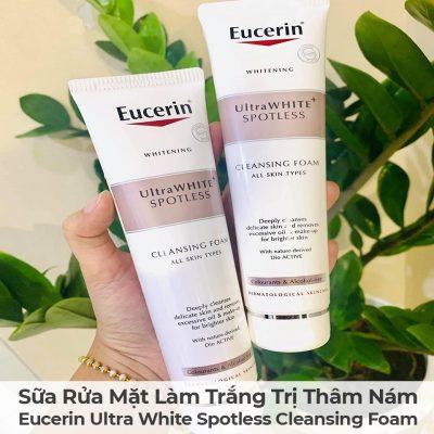 Sữa Rửa Mặt Làm Trắng Trị Thâm Nám Eucerin Ultra White Spotless Cleansing Foam-3