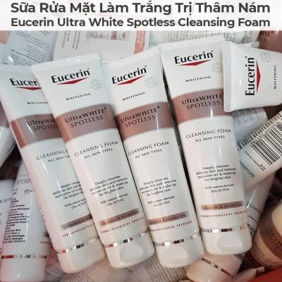 Sữa Rửa Mặt Làm Trắng Trị Thâm Nám Eucerin Ultra White Spotless Cleansing Foam-4