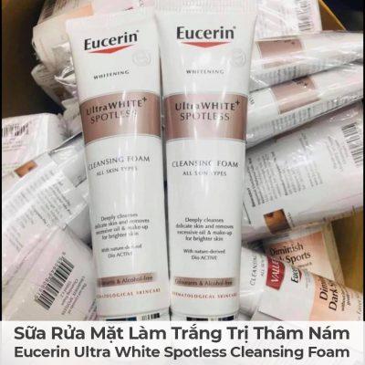Sữa Rửa Mặt Làm Trắng Trị Thâm Nám Eucerin Ultra White Spotless Cleansing Foam-5