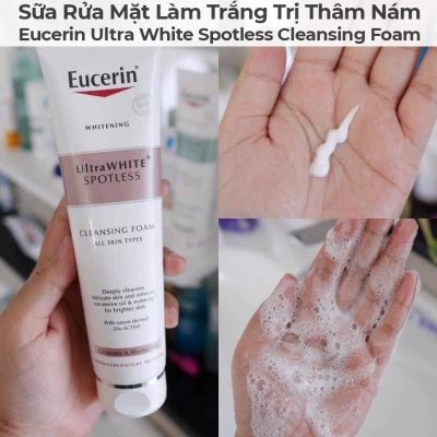 Sữa Rửa Mặt Làm Trắng Trị Thâm Nám Eucerin Ultra White Spotless Cleansing Foam-6