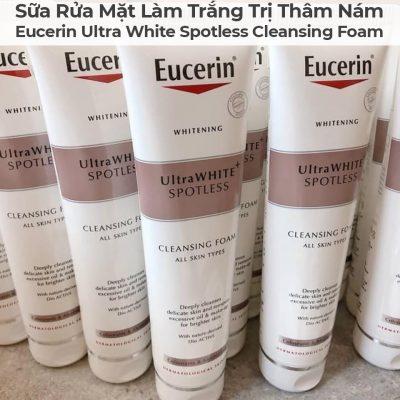 Sữa Rửa Mặt Làm Trắng Trị Thâm Nám Eucerin Ultra White Spotless Cleansing Foam-7