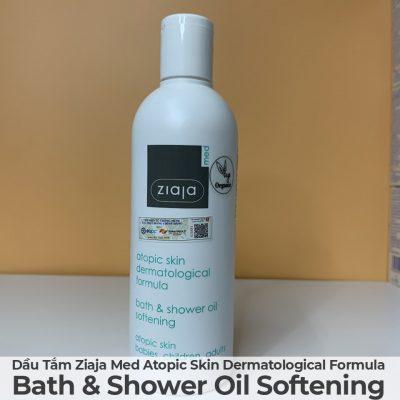 Dầu Tắm Mềm Mịn Da Ziaja Med Atopic Skin Dermatological Formula Bath & Shower Oil Softening-1