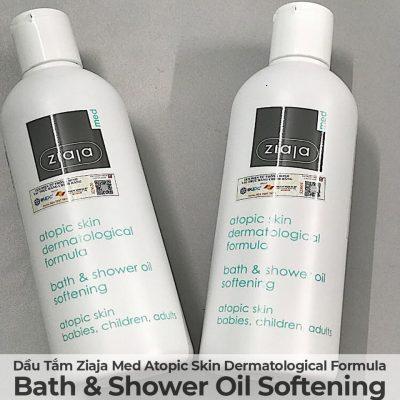 Dầu Tắm Mềm Mịn Da Ziaja Med Atopic Skin Dermatological Formula Bath & Shower Oil Softening-10