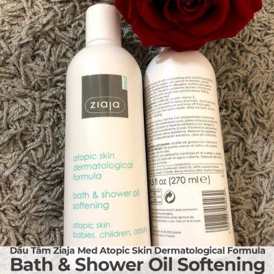 Dầu Tắm Mềm Mịn Da Ziaja Med Atopic Skin Dermatological Formula Bath & Shower Oil Softening-11